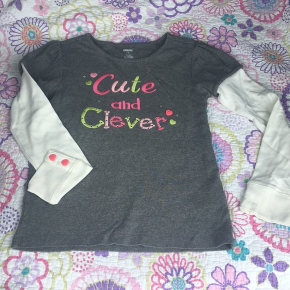 "Gymboree Other - Girls shirt ""Cute and Clever"" 🎀"